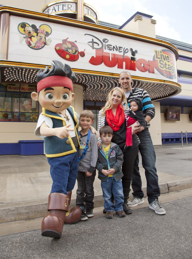 Melissa Joan Hart and her family spent a March day at the LA amusement park.