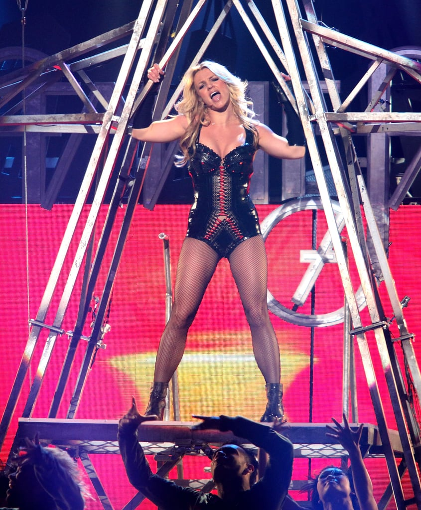 Britney Spears hit the right notes at a taping for Good Morning America in San Francisco in 2012.