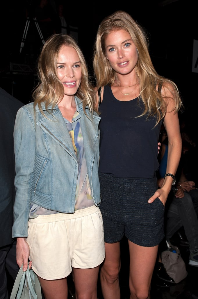 Kate Bosworth and Doutzen Kroes smiled for the camera backstage.