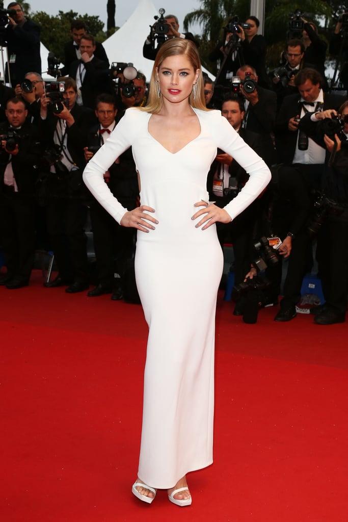 Doutzen Kroes wore a white dress to the Jimmy P. premiere.