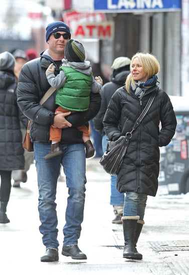 Pictures of Naomi Watts, Liev Schreiber, Samuel Schreiber, and Sasha Schreiber Visiting the Children's Museum of the Arts in NYC