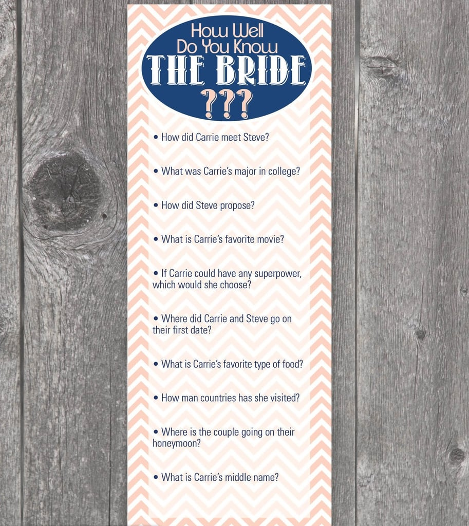 Do You Know the Bride?