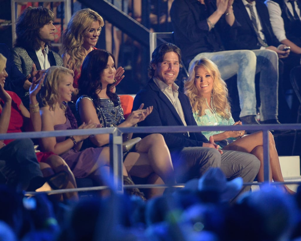 Carrie Underwood and Mike Fisher smiled at the CMT Awards.