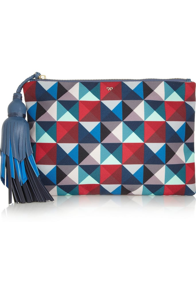 Anya Hindmarch Courtney Printed Canvas Clutch ($650)