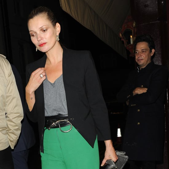 Kate Moss Wearing Green Pants With Jamie Hince