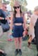 This Coachella attendee showed off Spring's crop-top trend in a sweet, high-waisted navy pairing accessorized with a straw fedora and black lace-up ankle boots. Source: Chi Diem Chau