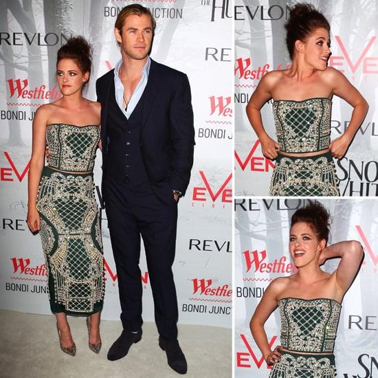 Kristen Stewart and Chris Hemsworth Premiere SWATH in Sydney