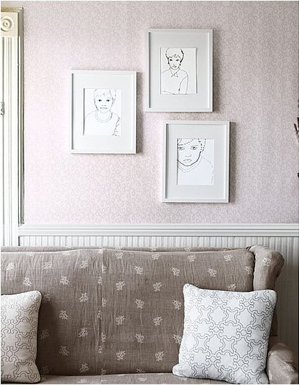 Create embroidered portraits of your loved ones. Source: Country Living Magazine