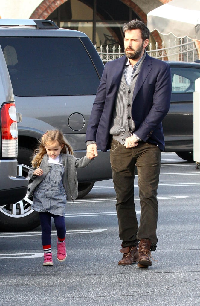 Man-of-the-moment Ben Affleck stopped for a coffee with with his too-cute daughter Seraphina (mum Jennifer Garner was there, too) in LA on February 7.