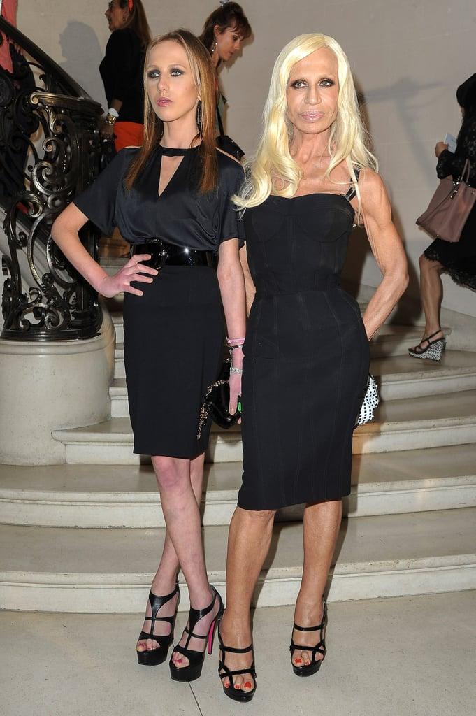Allegra and Donatella Versace