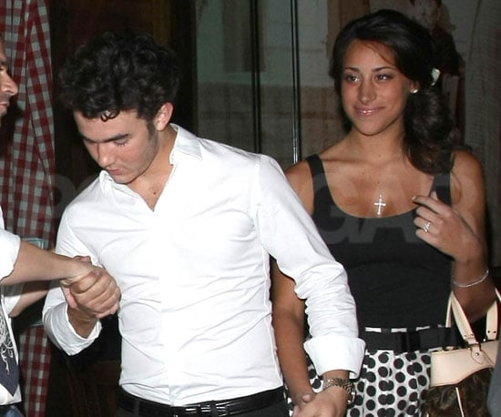 Photo Slide of Danielle Deleasa and Kevin Jonas Leaving Their Engagement Party