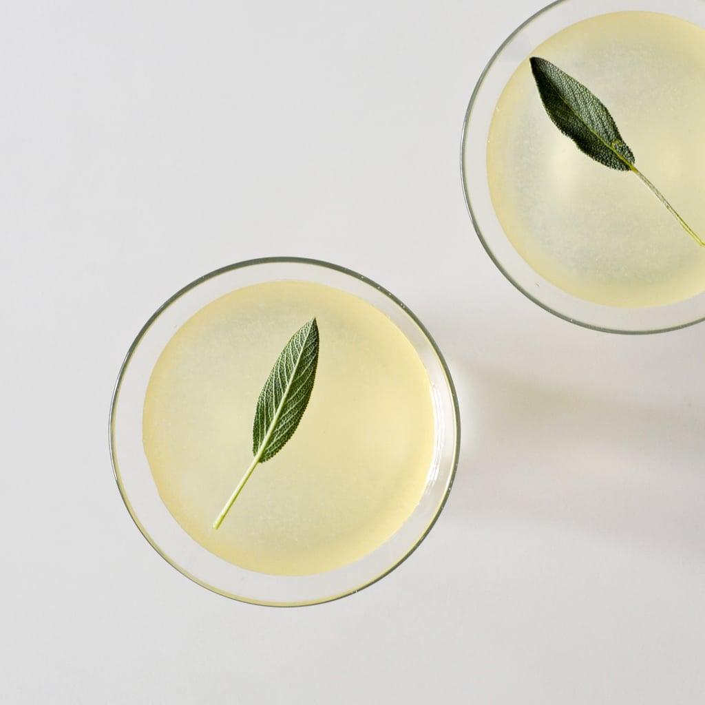 Elderflower-Sage Gin Cocktail