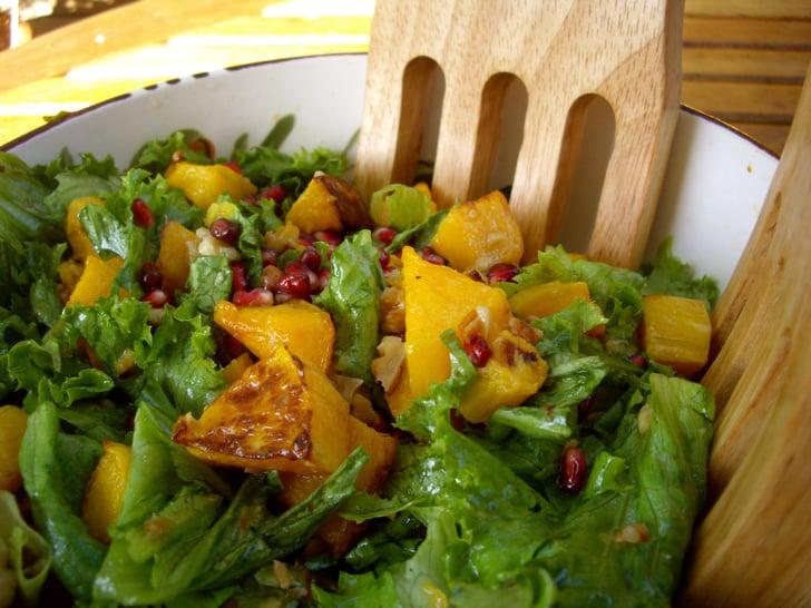 Fall into Salads: Butternut Squash, Pomegranate and Walnuts