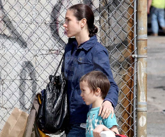 Photo Slide of Jennifer Connelly and Her Son Stellan in NYC