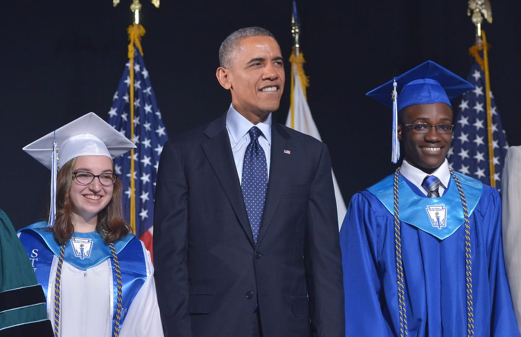 Obama Dishes Out Advice (and Hugs!) During a High School Graduation Speech