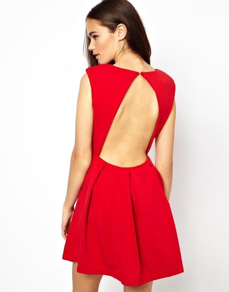 Glamorous Red Backless Skater Dress ($41, originally $59)