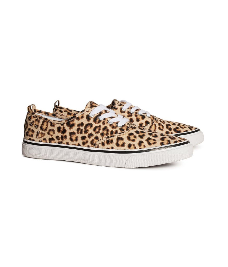 When tired feet need a break from heels and platforms, we suggest these leopard-print classic lace-ups ($18).