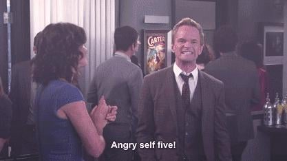 Or the angry self-five.