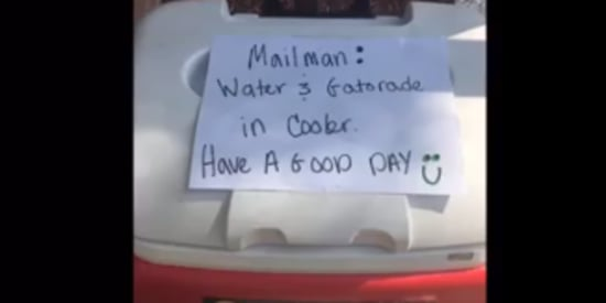 Boy Leaves Cold Drinks Out For Mailman Friend On Super Hot Day