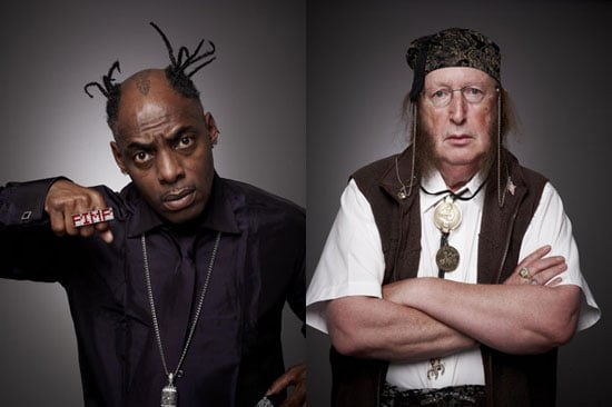 Pictures of Coolio and John McCririck Who Are Nominated For First Eviction From Ultimate Big Brother