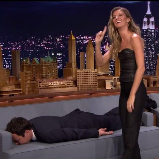Gisele Bundchen Planks on Jimmy Fallon