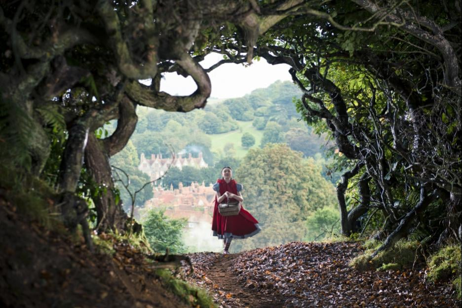 Lilla Crawford as Red Riding Hood.
