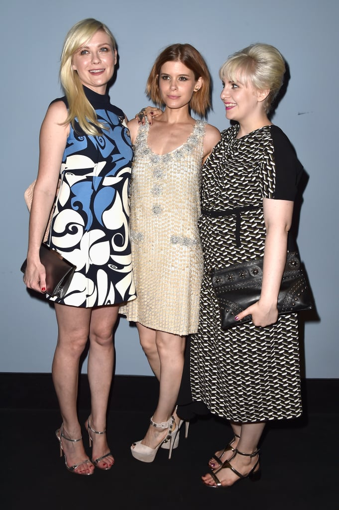 Kirsten Dunst, Kate Mara, and Lena Dunham met up to watch the Women's Tales short films on Thursday.
