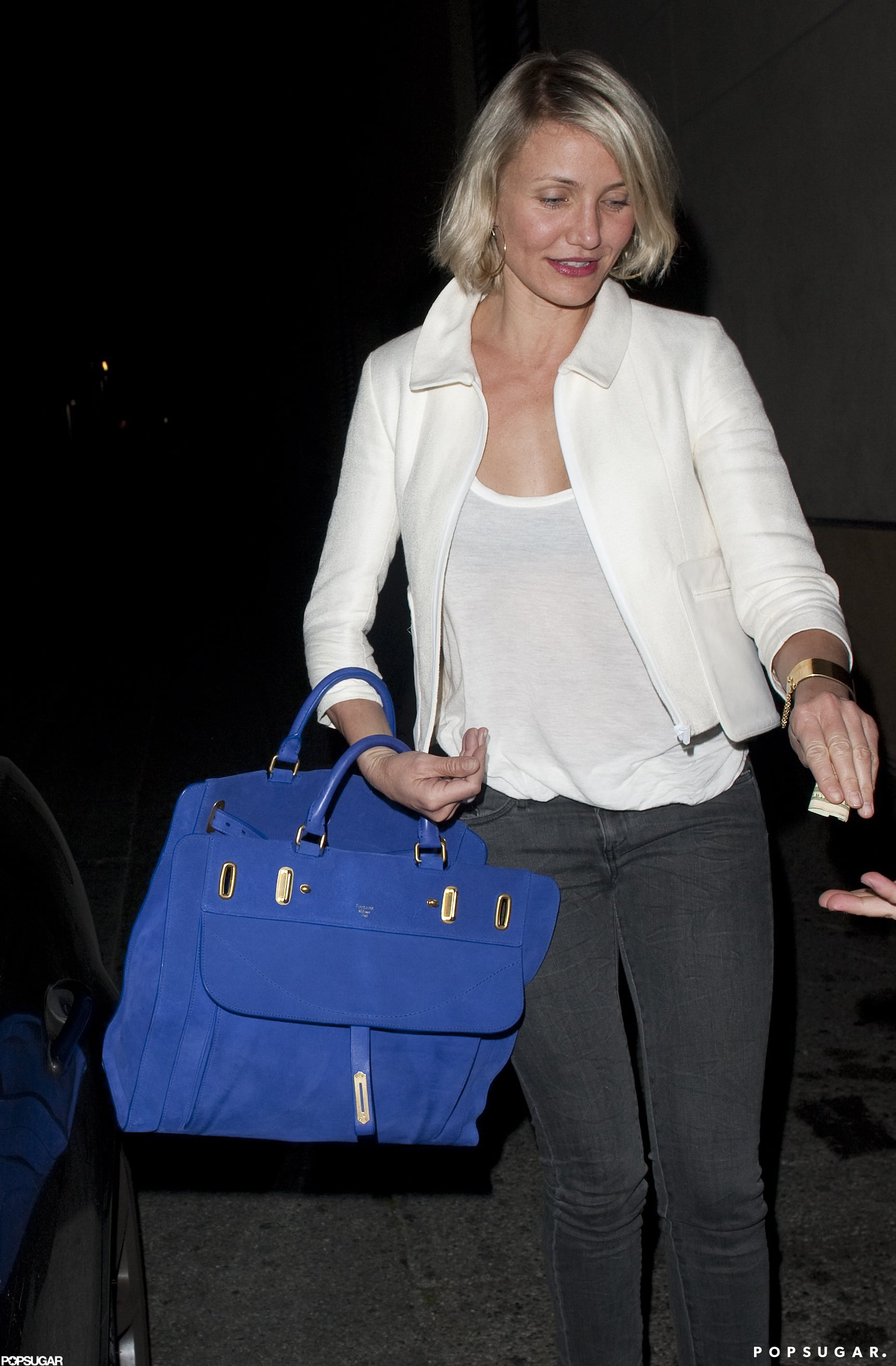 Cameron Diaz hopped in the driver's seat.