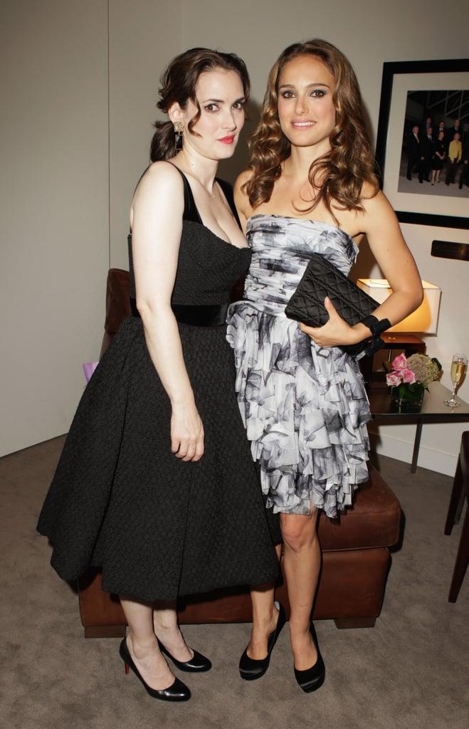 Winona Ryder cosied up to costar Natalie Portman at the 2010 TIFF premiere of their Oscar-winning film Black Swan.