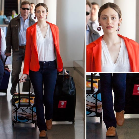 Emmy Rossum Red Blazer