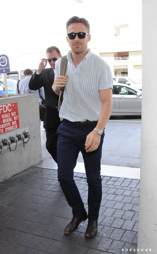 Ryan Gosling made a handsome arrival at LAX on Saturday.