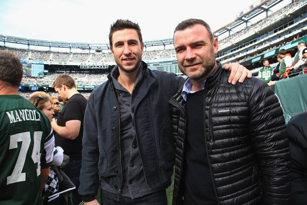 Liev Schreiber and his brother Pablo checked out the Pittsburgh Steelers game against the New York Jets in November 2014.