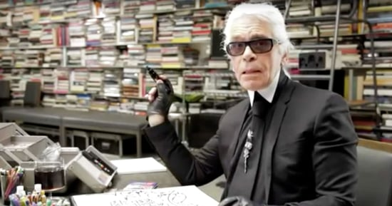 Karl Lagerfeld's $2,825 Sketching Kit Includes Colored Pencils