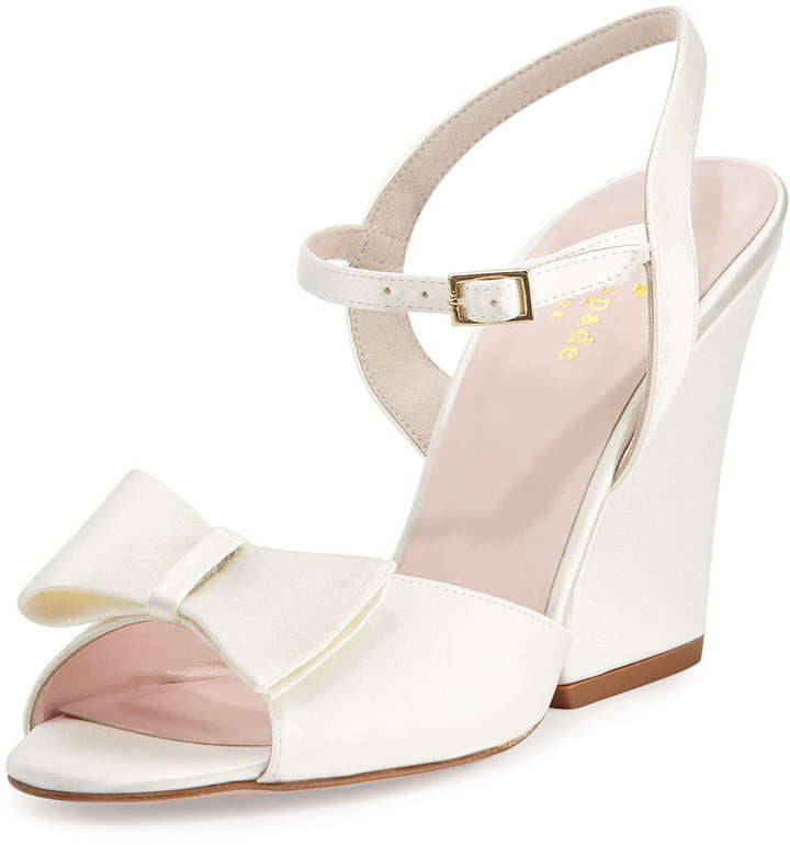 Kate Spade New York Imari Satin Wedge Sandal