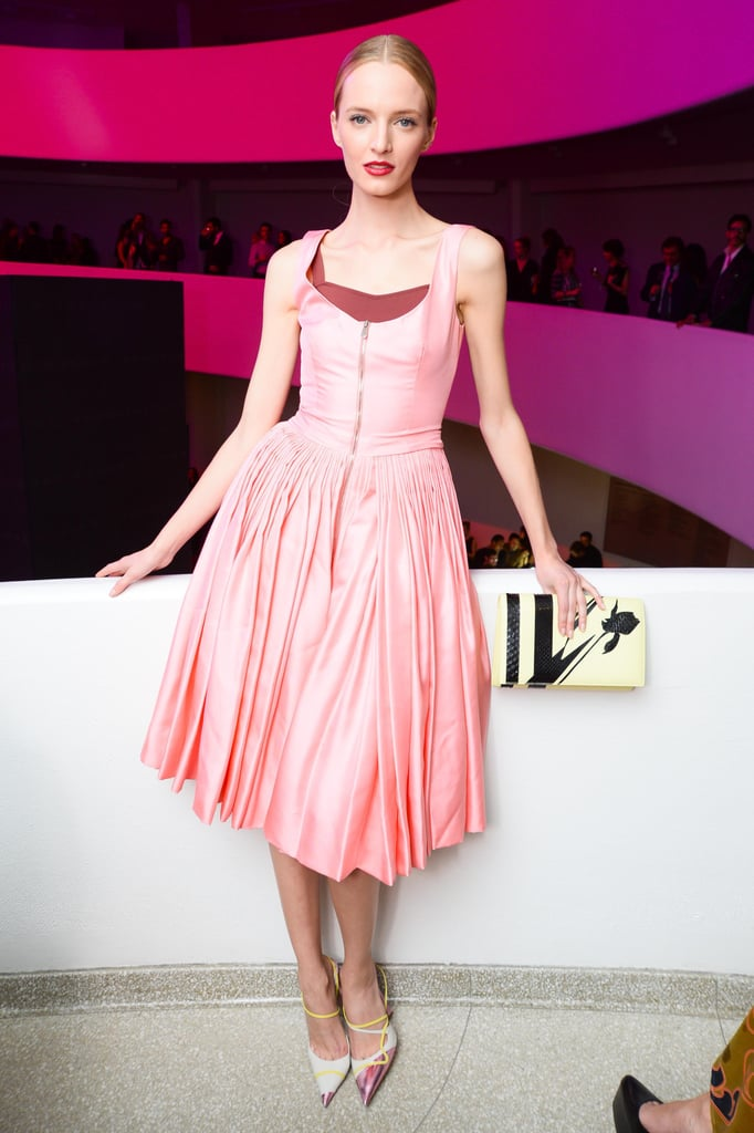 Daria Strokous was a vision in Dior at the International Gala.