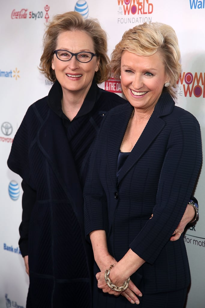 Meryl Streep chatted with Women in the World event organizer Tina Brown.