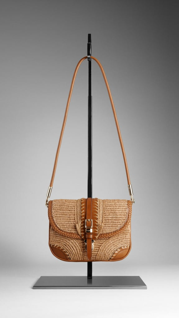 We've seen a lot of wicker woven detailing in shoes and bags this Spring. This beautifully crafted bag features whipstitch edging and intricate woven patterns.  Burberry Small Woven Crossbody Bag ($1,295)