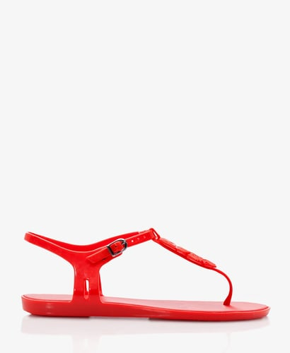 FOREVER 21 Mel for Forever 21 Mini-Wedge Thong Sandals