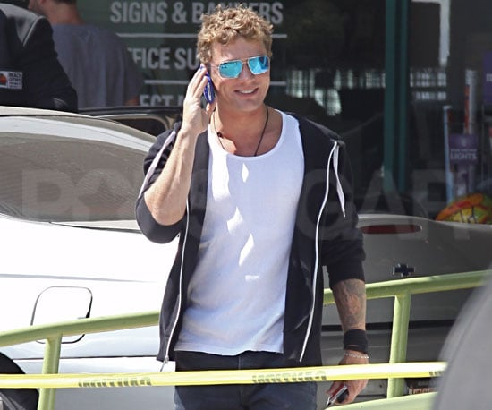 Slide Picture of Ryan Phillippe Talking on the Phone in LA