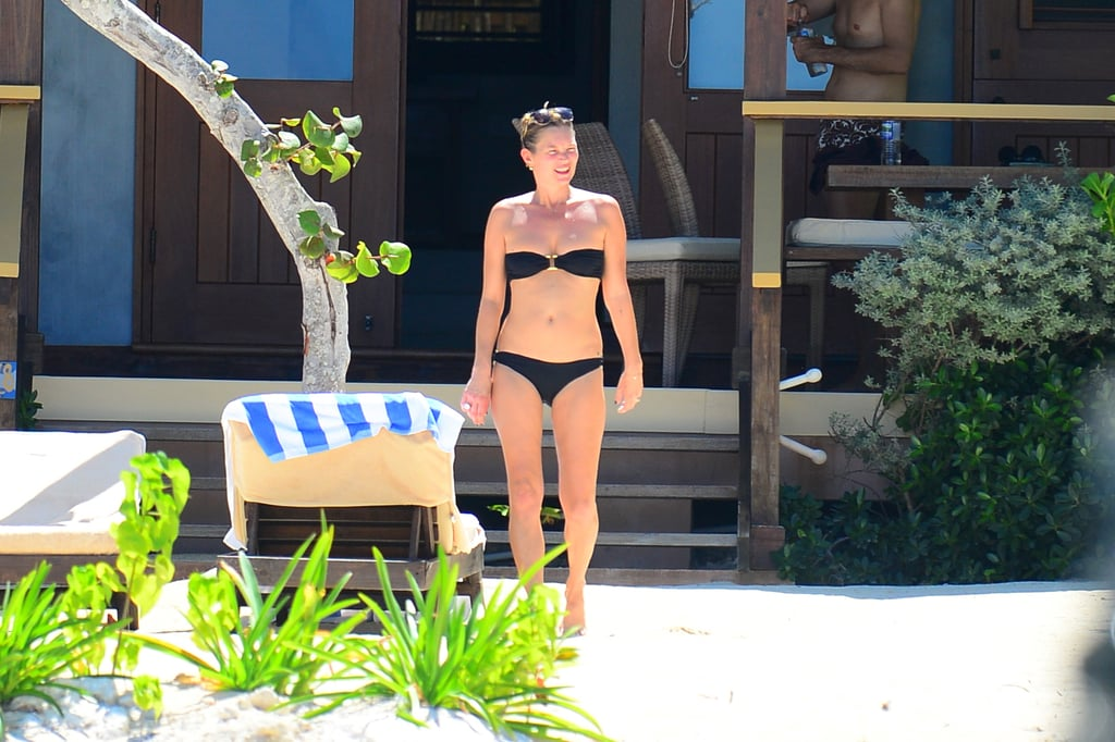 Kate Moss slipped into a black Melissa Odabash bikini while sunbathing in Jamaica.