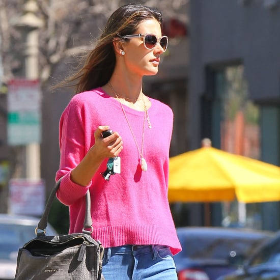 Jessica Alba in Pink Sweater   Pictures