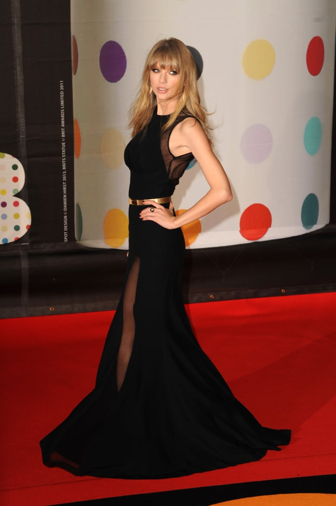 Taylor Swift Goes Sheer at the 2013 Brit Awards