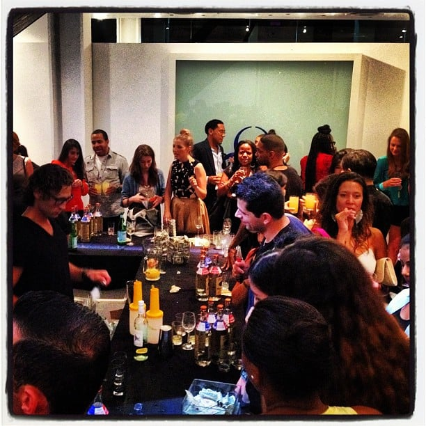 The bar was open (in more ways than one) serving up cocktails all night at DVF.
