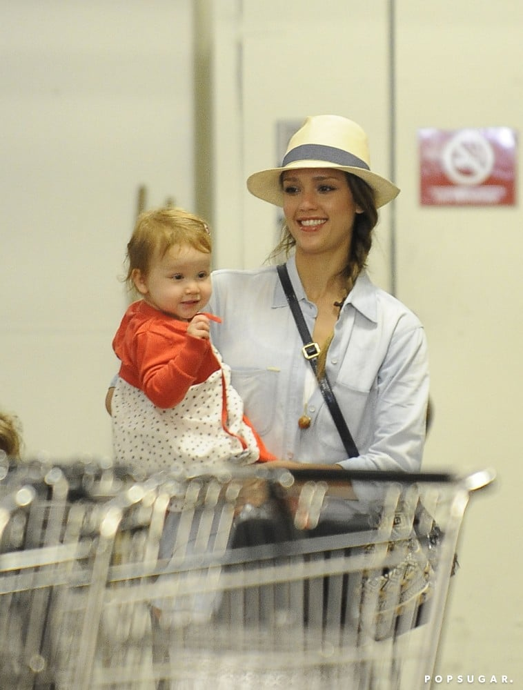 Jessica Alba went to Whole Foods in LA with Haven.