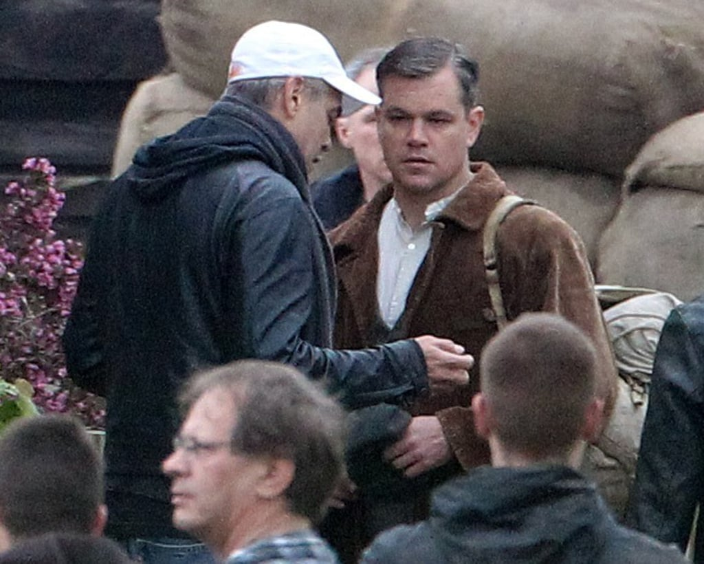 Matt Damon got direction from his good friend George Clooney while filming.