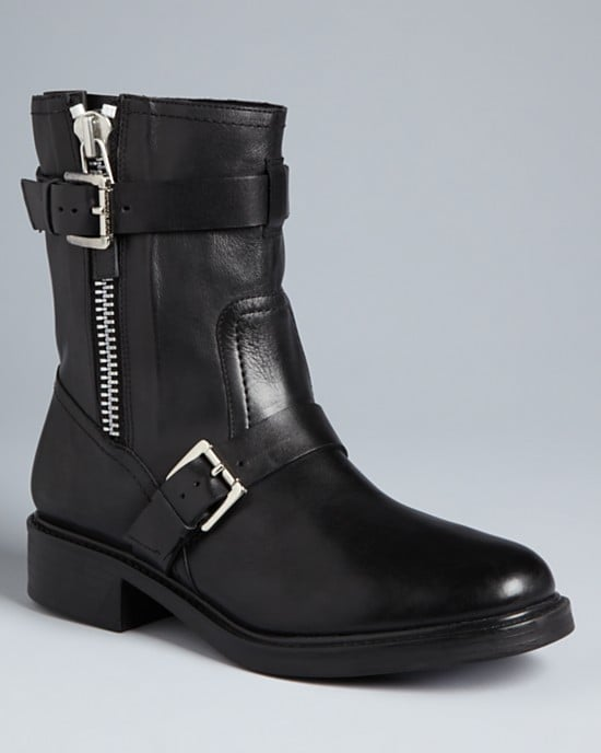 Wear these Pour La Victoire Moto Booties ($245, originally $350) now with skinnies and oversize sweaters; later with a printed babydoll dress for a rocker-sweet vibe.