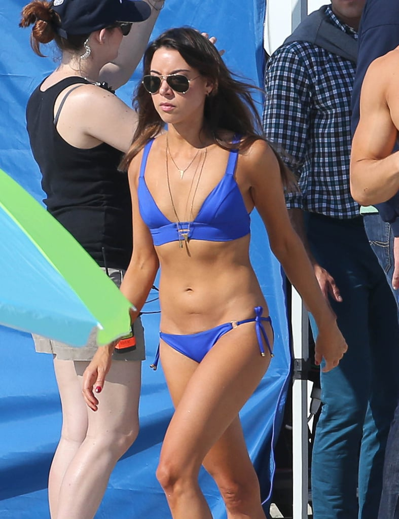 In May 2015, Aubrey Plaza's bikini body was a surprising and refreshing site in Georgia.