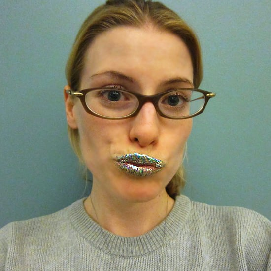 How to Put On Glitzy Lips Foil Lip Appliques