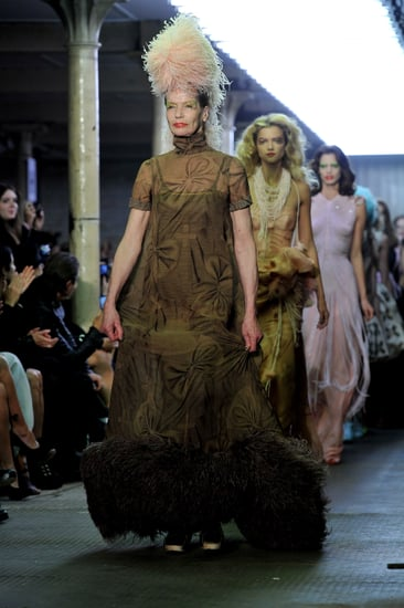 71-Year-Old Veruschka, Pregnant Walk Abbey Clancy Giles Show During Spring 2011 London Fashion Week