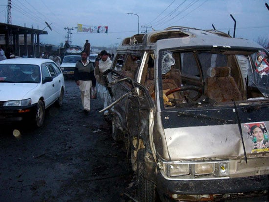Headline: Suicide Blast Kills 37 at Pakistan Campaign Rally